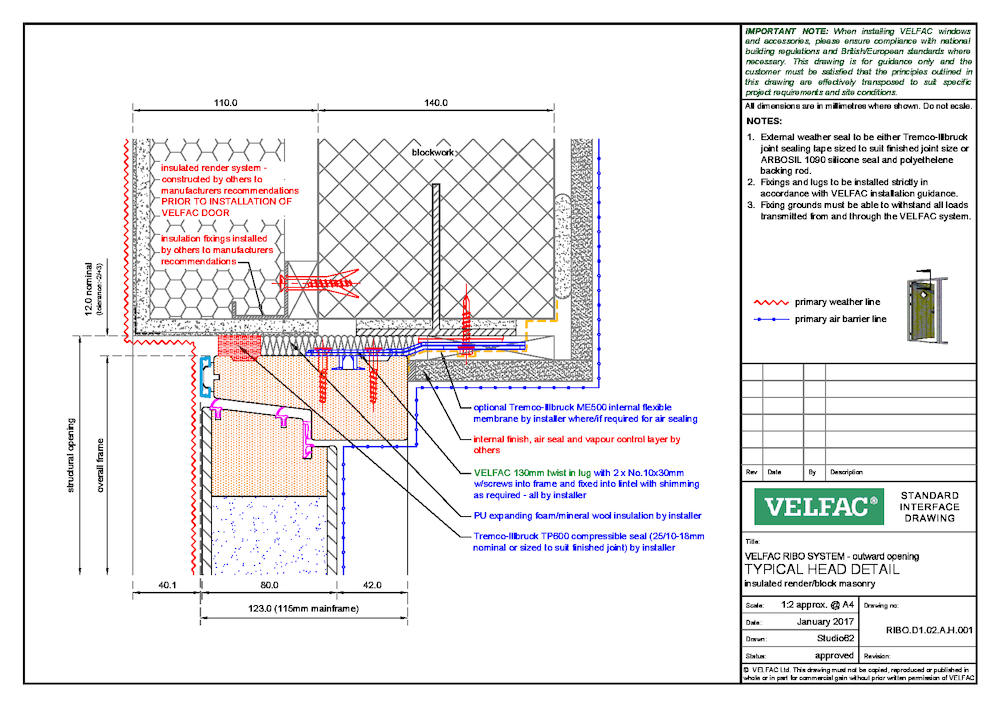Insulated Render - Block masonry - Head