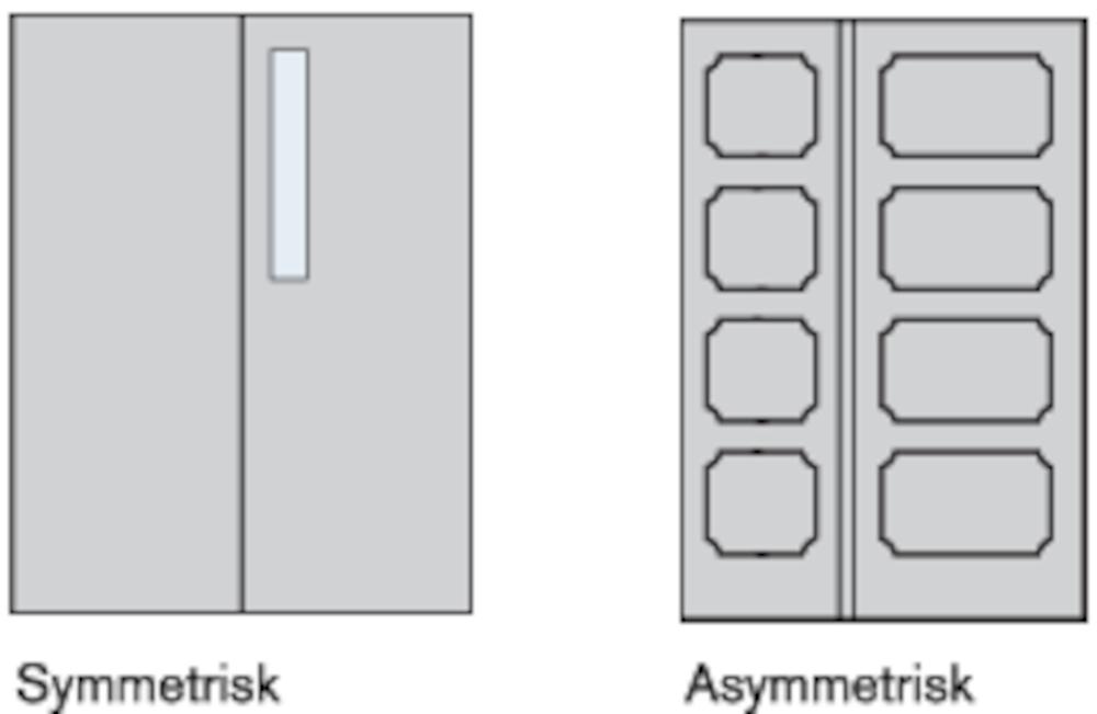 Eksempler på 2-fløjede pladedøre