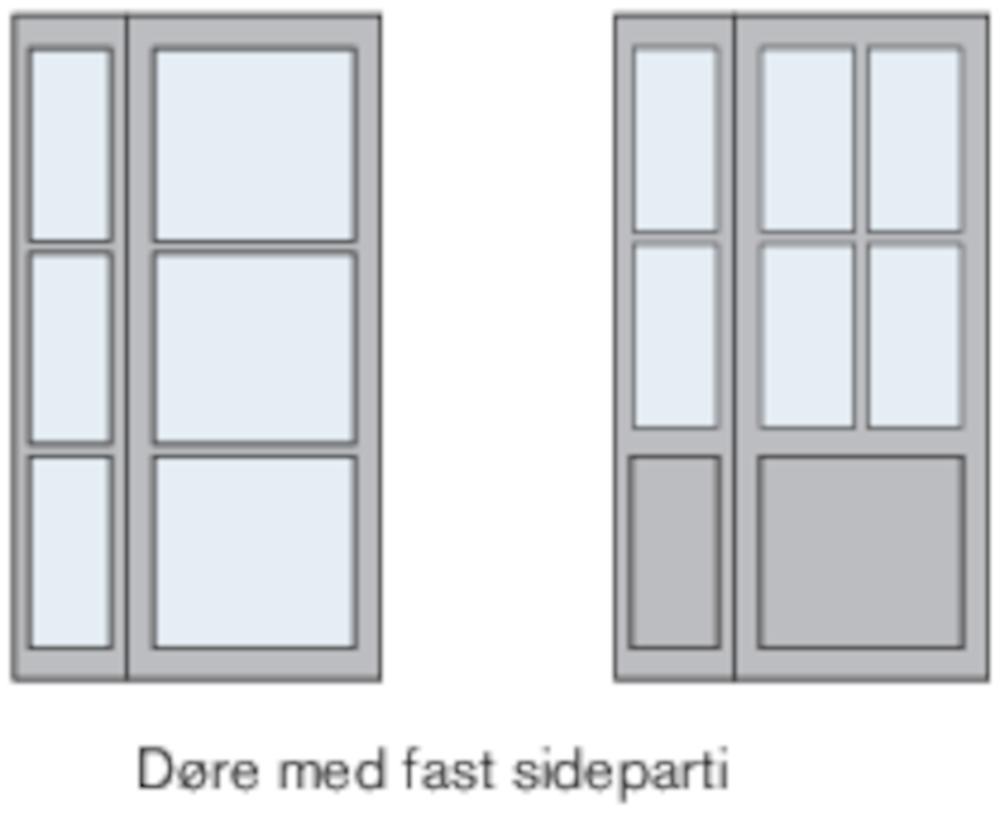 Eksempler på 2-fløjede rammedøre