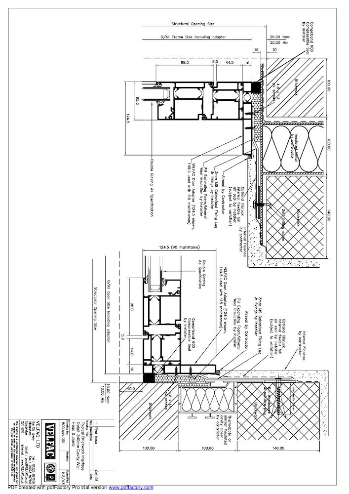 VELFAC 500 interface details, PDF